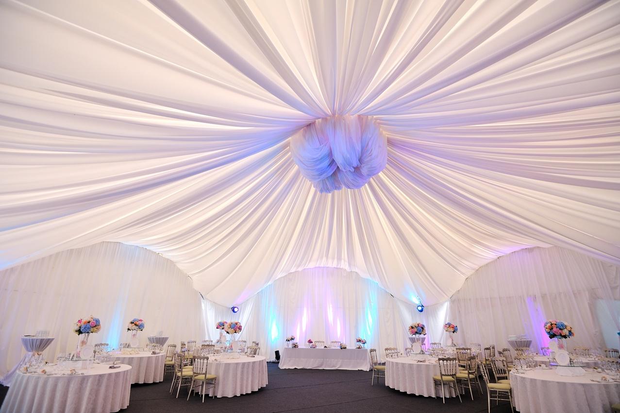 Украсить шатер для свадьбы